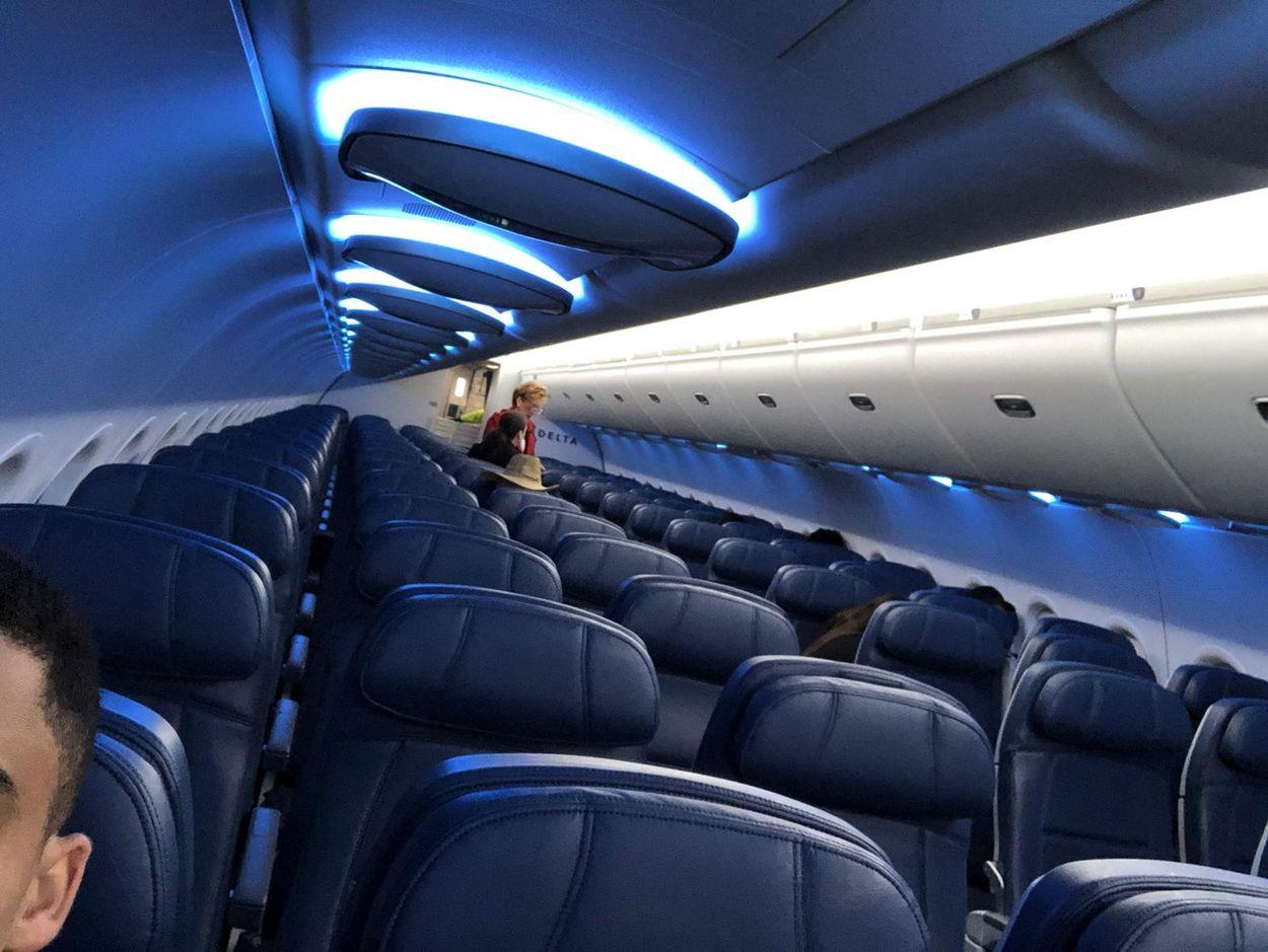 Lege vlucht Delta Airlines door coronavirus