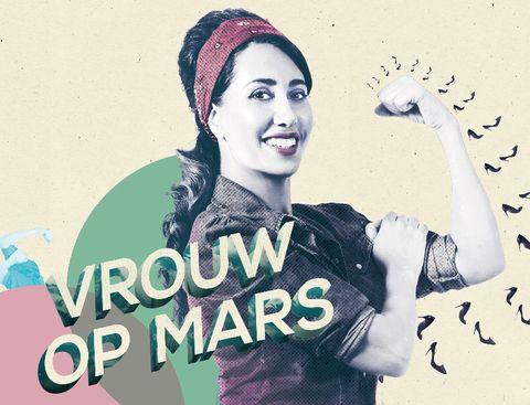Sfeerfoto van Vrouw op Mars