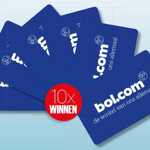 10 x bol.com-cadeaukaart t.w.v. €30,-