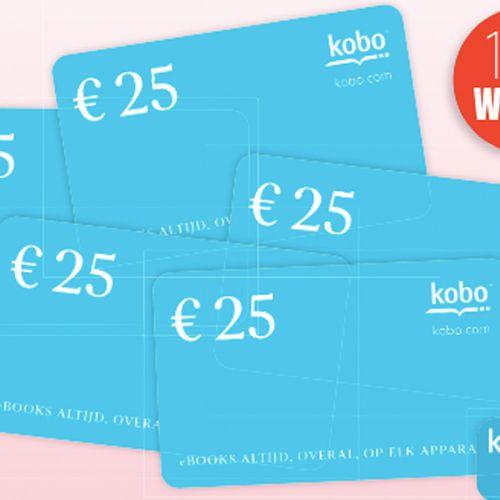 15 x Kobo-giftcard t.w.v. € 25,-